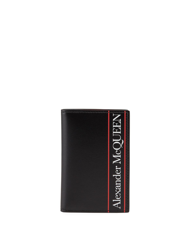 Alexander McQueen Men's Logo-Print Pocket Organizer Wallet