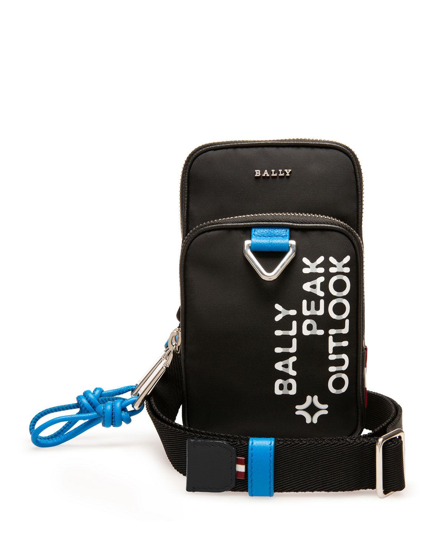 Bally Men's Pocky Peak Outlook Crossbody Phone Case - BLACK