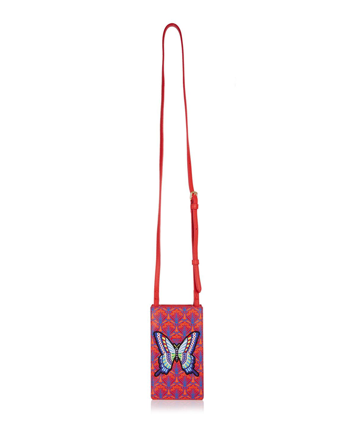 Liberty London Iphis Patch Canvas Phone Crossbody Bag - Golden Hardware