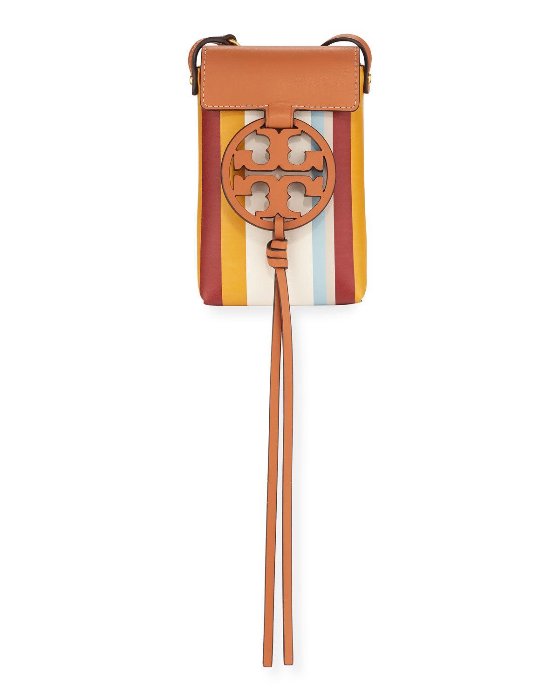 Tory Burch Miller Striped Phone Crossbody Bag