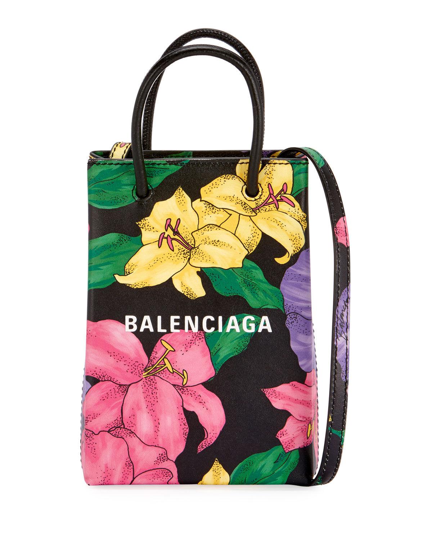 Balenciaga Shop Floral Phone Holder Bag