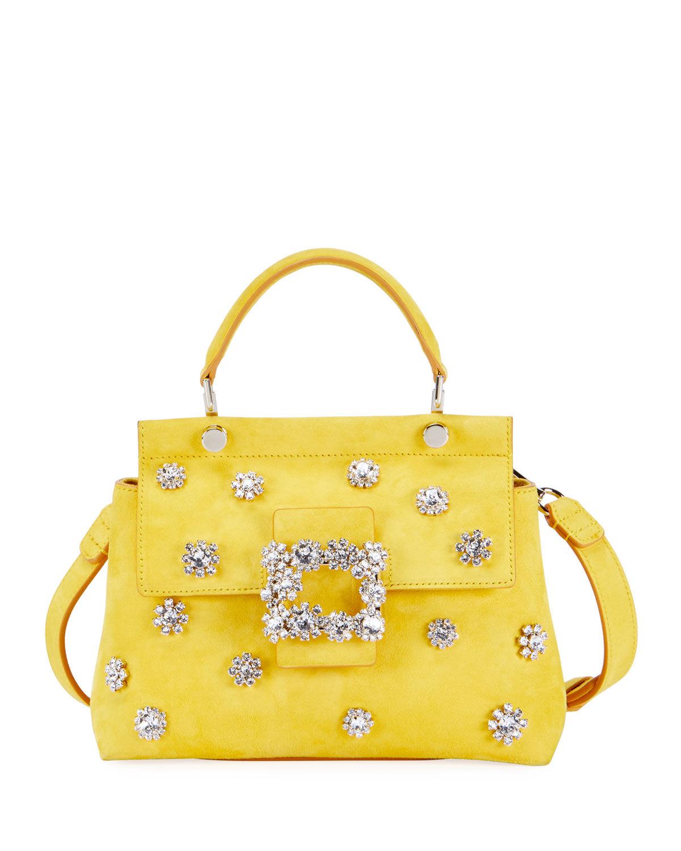 Roger Vivier Viv' Garden Flower Cabas Mini Top-Handle Bag