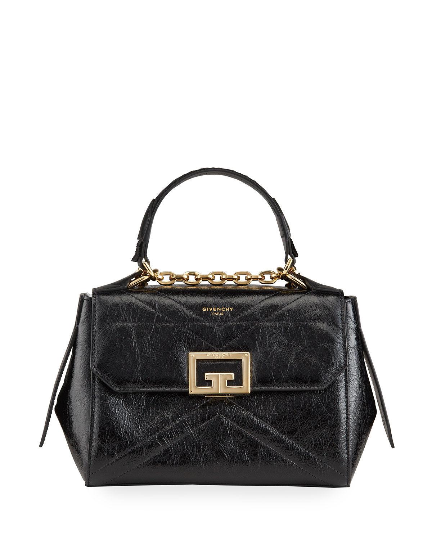 Givenchy ID Small Shiny Creased Top Handle Bag