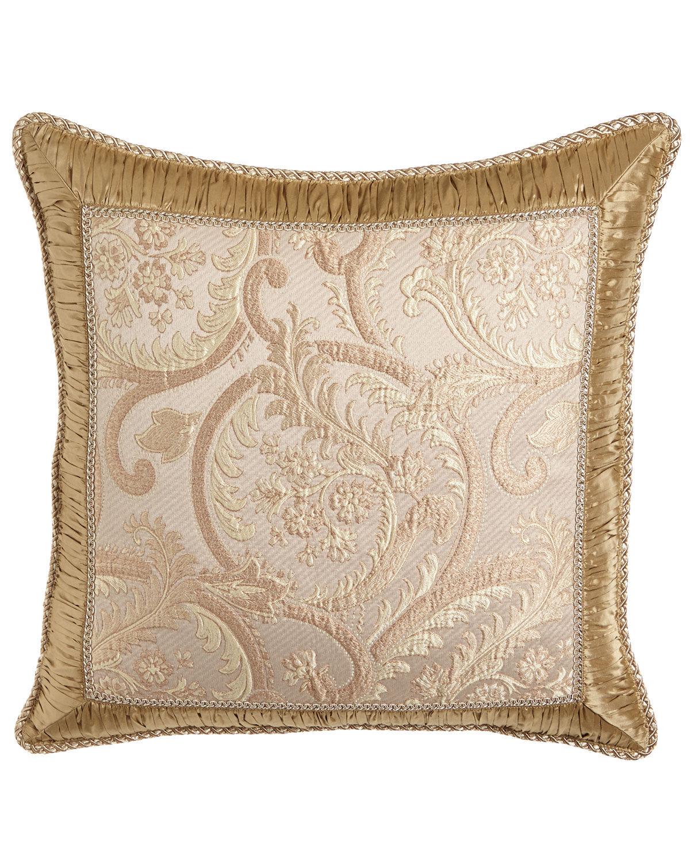 Sweet Dreams Kensington Garden Matelasse European Sham with Ruched Silk Frame