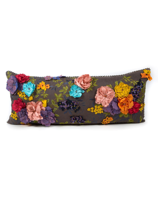 MacKenzie-Childs Covent Garden Floral Lumbar Pillow