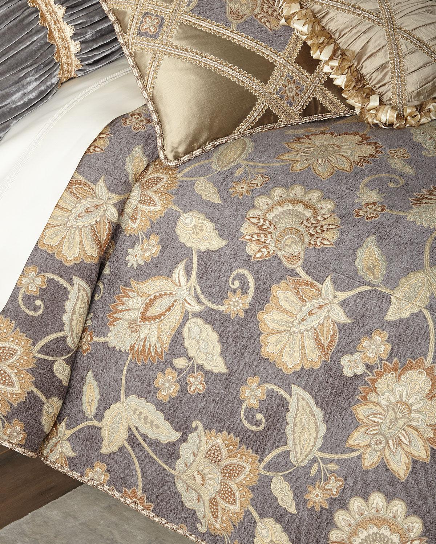 Dian Austin Couture Home Golden Garden Floral King Duvet