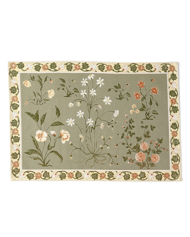 Handprint Garden Sage Placemats, Set of 4