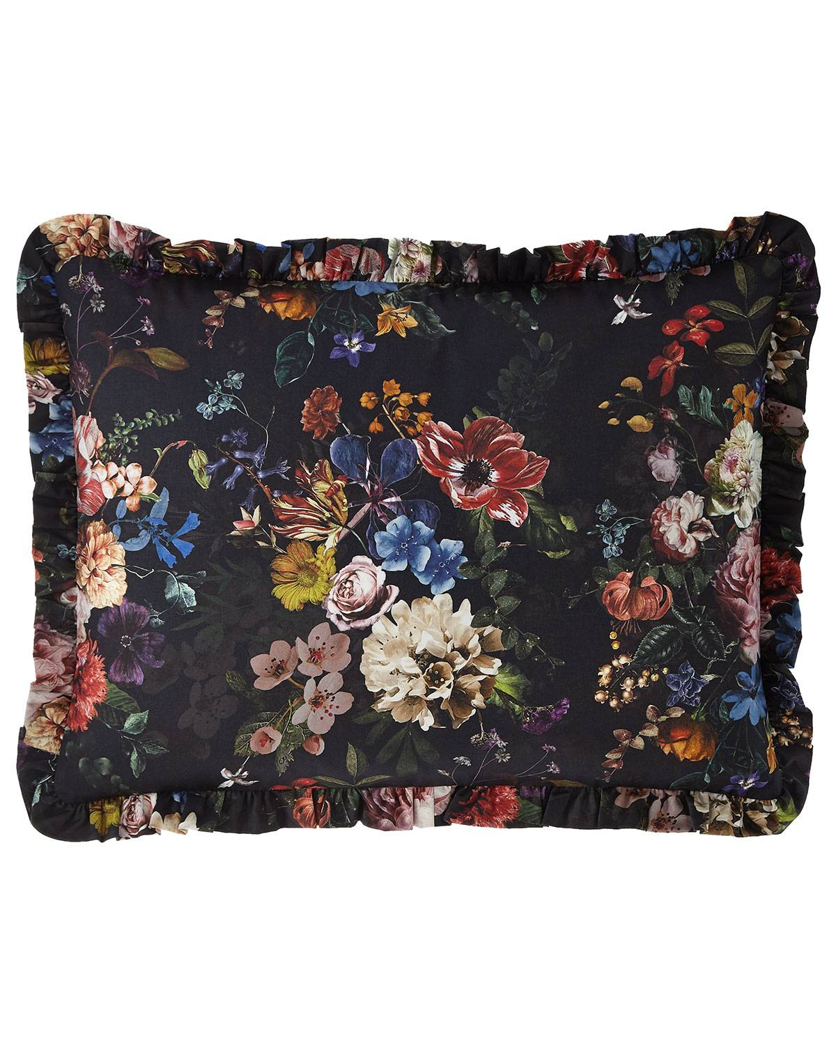 Sweet Dreams Midnight Garden Ruffled Standard Sham