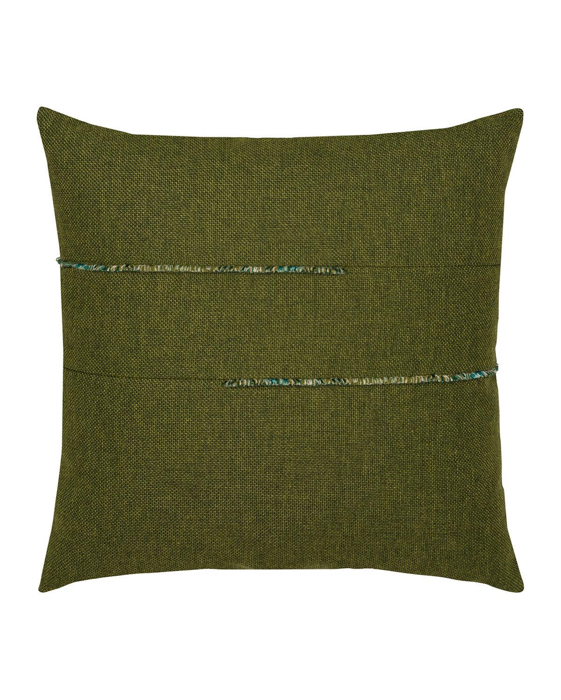 Elaine Smith Garden Sunbrella Pillow, Green