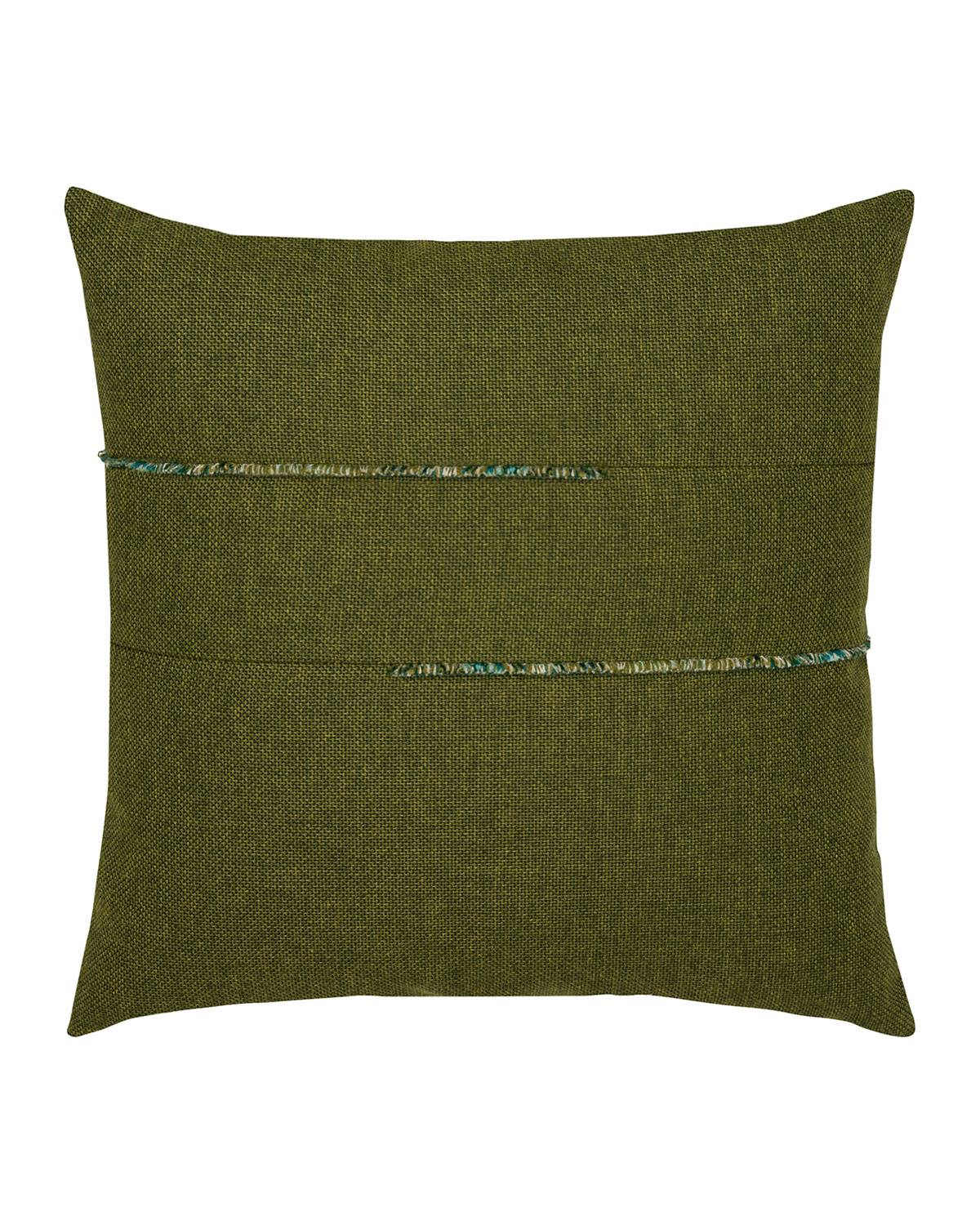 Elaine Smith Garden Sunbrella Pillow, Green