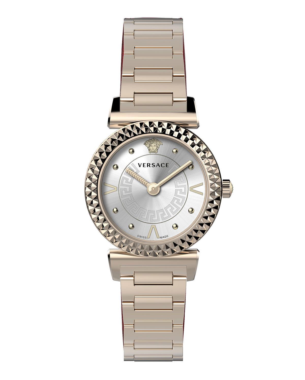 Versace Mini Vanity Watch w/ Bracelet, Rose Gold