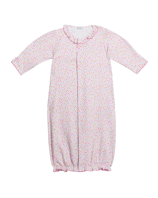Kissy Kissy Girl's Unicorn Gardens Convertible Gown, Size Newborn-S - PINK