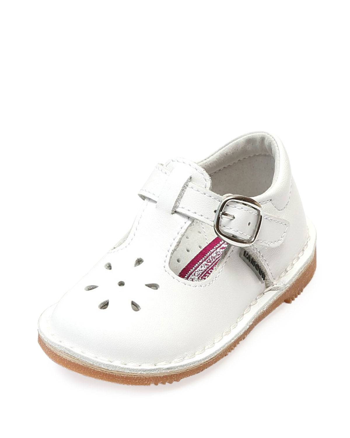 L'Amour Shoes Joy Leather Cutout T-Strap Mary Jane, Baby/Toddler/Kids - Size: 10 Tod