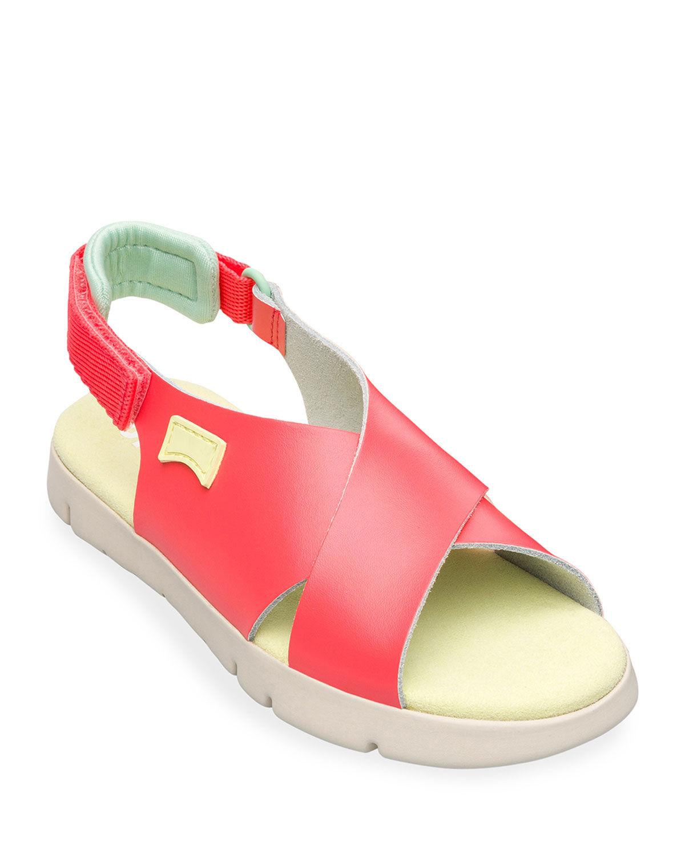 Camper Kid's Metallic Crisscross Sandals, Toddler/Kids