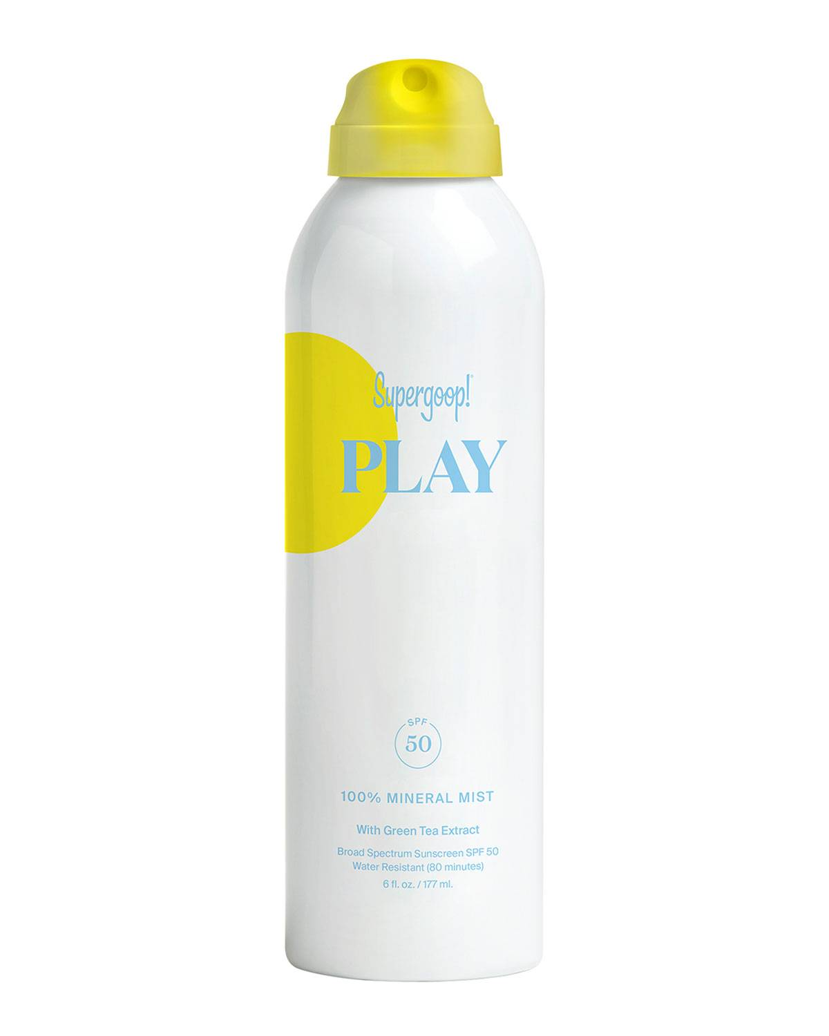 Supergoop 6 oz. PLAY 100% Mineral Body Mist SPF 50 with Green Tea Extract