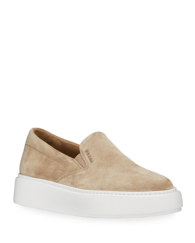 Prada Sport Suede Sneakers - Size: 10B / 40EU