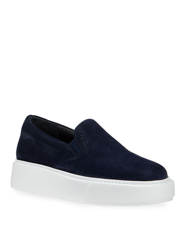 Prada Sport Suede Slide Sneakers - Size: 10B / 40EU