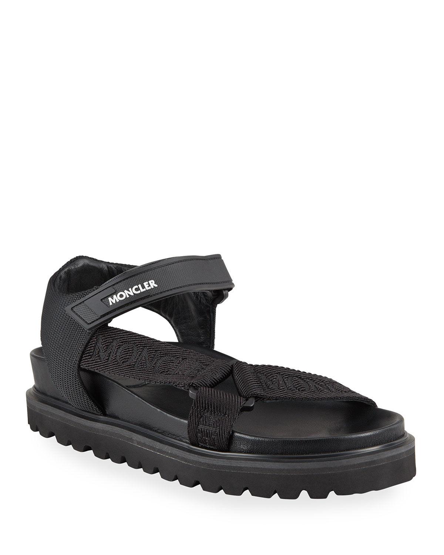 Moncler Flavia Flat Sport Sandals - Size: 10B / 40EU