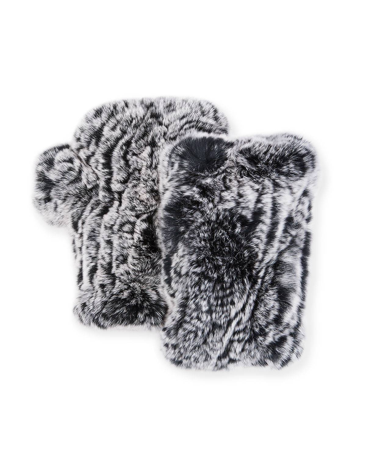 Surell Accessories Fingerless Fur Mittens
