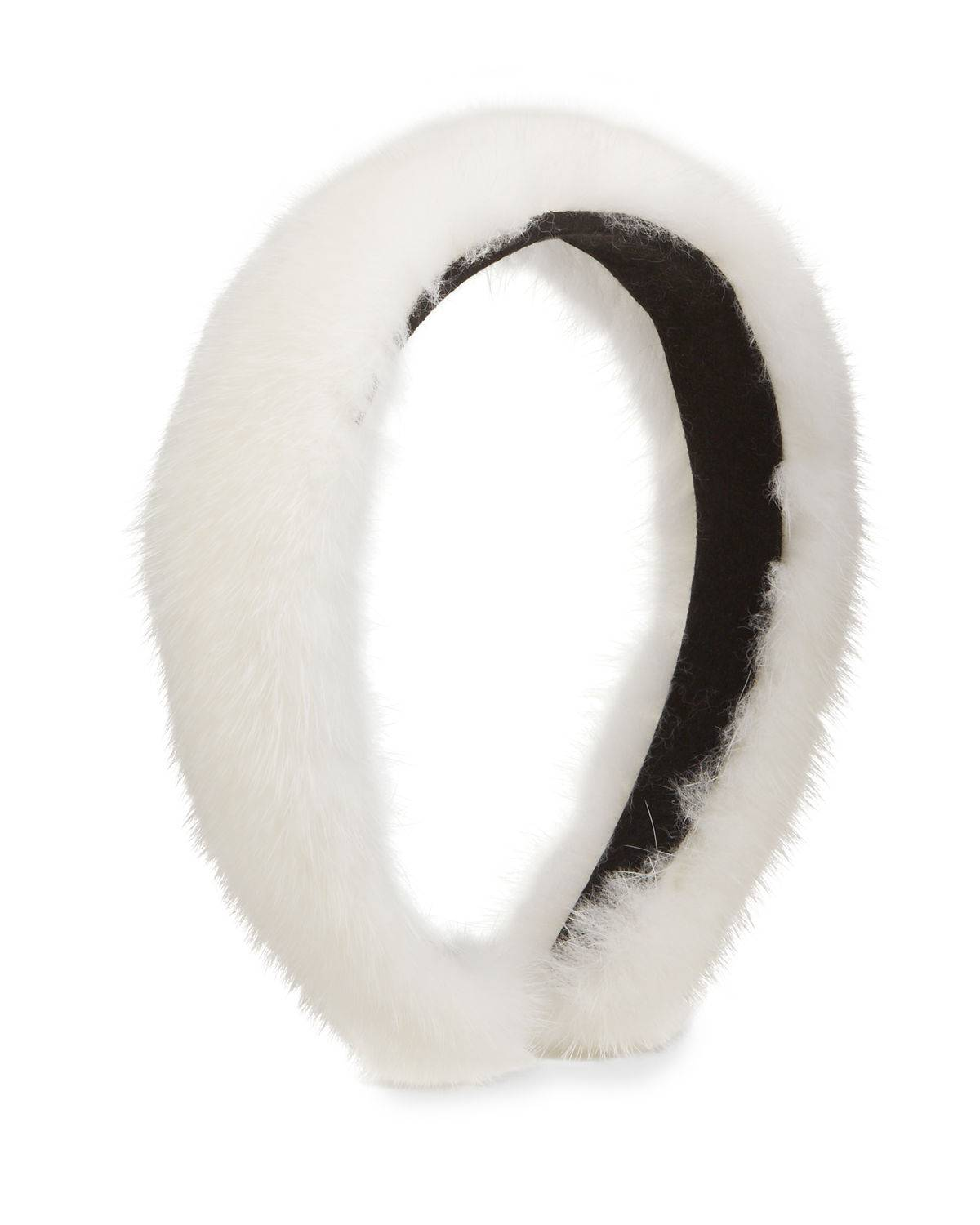 Surell Accessories Mink Fur Hairband