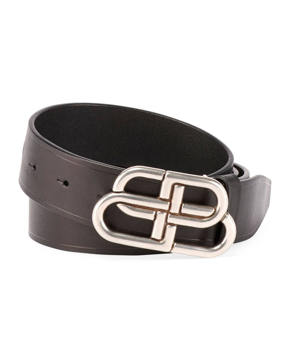 Balenciaga Men's Logo Buckle Belt - Size: 42in / 105cm