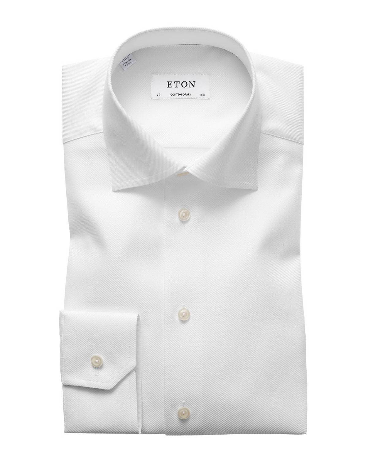 Eton Contemporary-Fit Tonal Satin Striped Formal Shirt