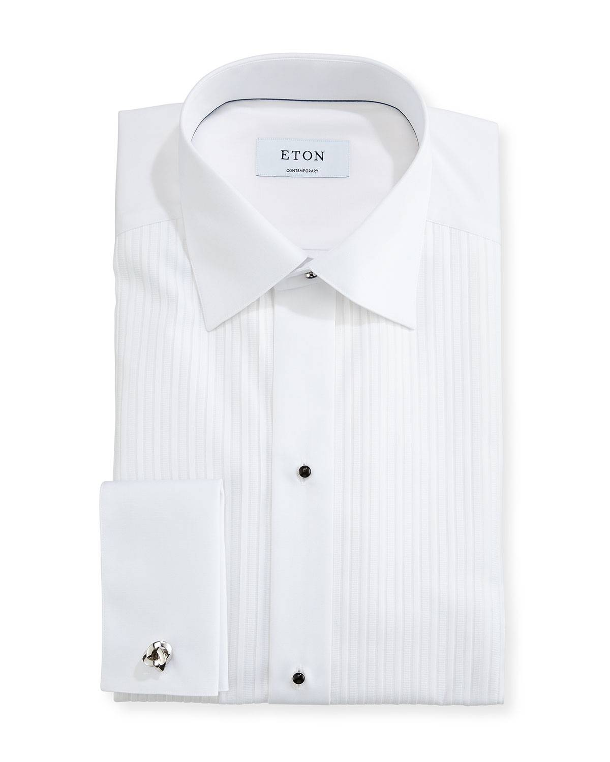 Eton Contemporary-Fit Pleated Bib Formal Shirt