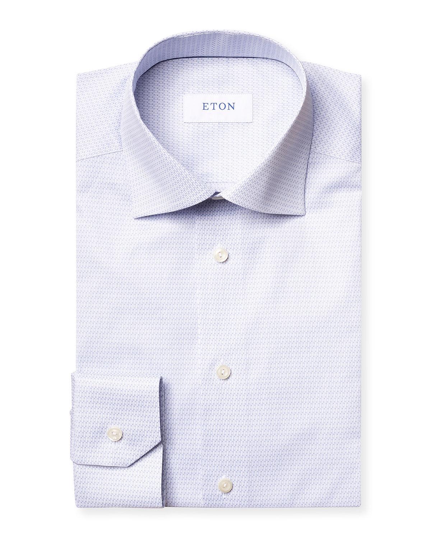 Eton Men's Micro Music Note Contemporary-Fit Dress Shirt - Size: 18