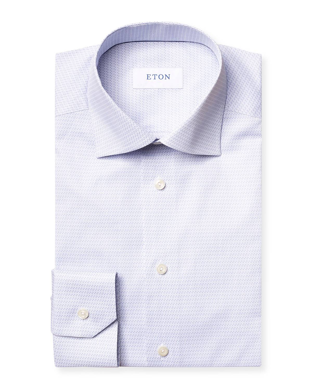 Eton Men's Micro Music Note Contemporary-Fit Dress Shirt - Size: 15