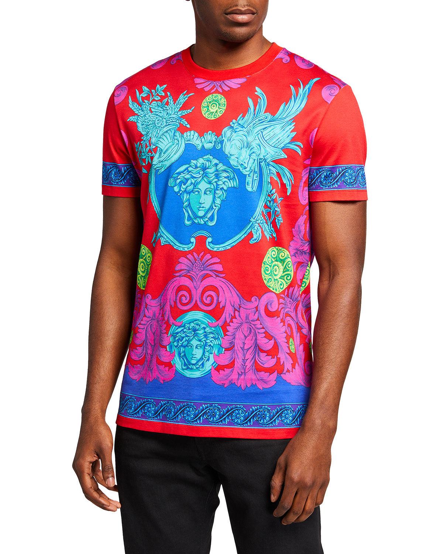 Versace Men's Barocco Garden T-Shirt - Size: Large