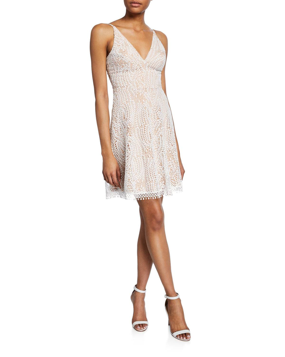 Dress The Population Piper V-Neck Sleeveless Lace Dress