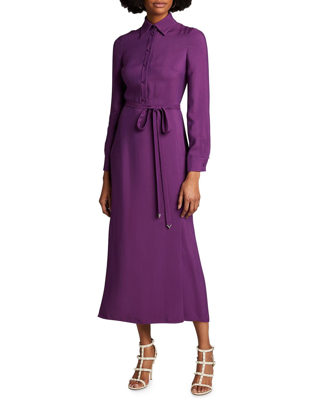 Valentino Jersey Maxi Shirtdress - Size: 44 IT (8 US)