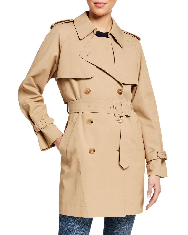 Co Short Trench Coat - Size: Large
