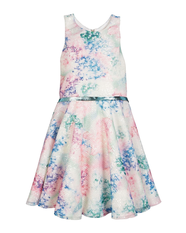 Zoe Mesh Sequin Party Dress, Size 4-6X