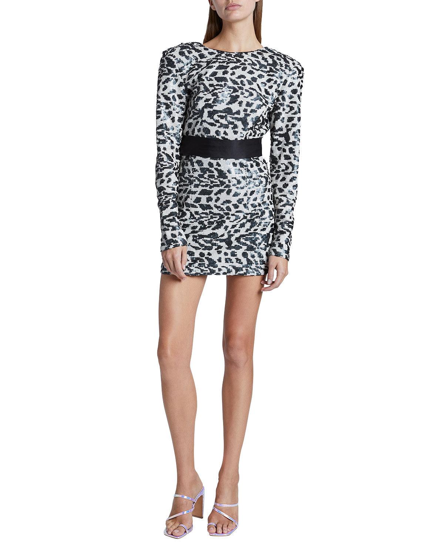 Rotate Birger Christensen Wanda Sequined Mini Dress - Size: 40 FR (8 US)