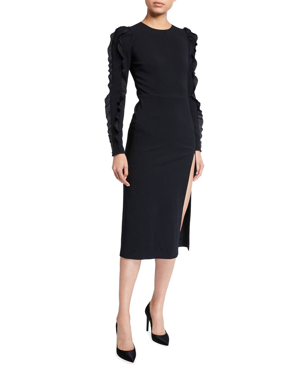 REDValentino Stretch Cady Envers Satin Sheath Dress - Size: 38 IT (2 US)