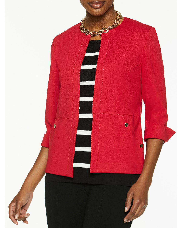 Misook Ponte Jacket with Pockets - Size: Extra Large