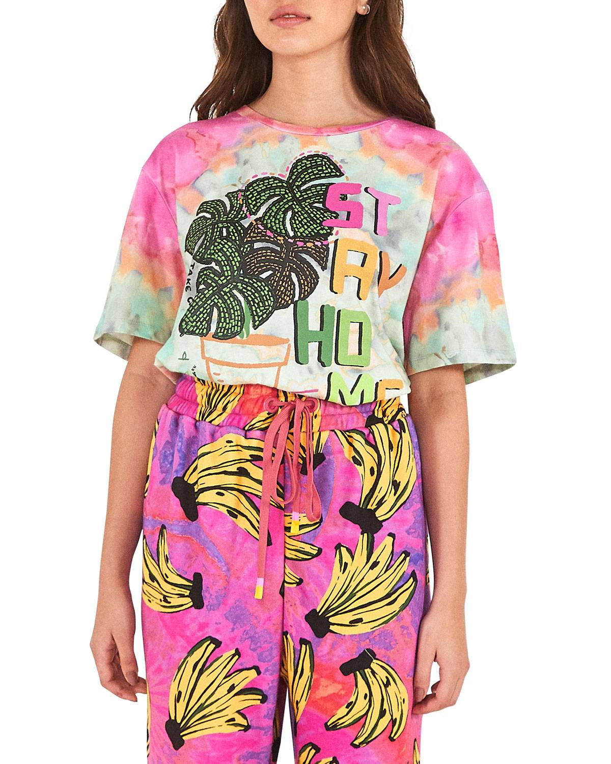 Rio Stay Home Tie-Dye Tee - Size: Extra Large