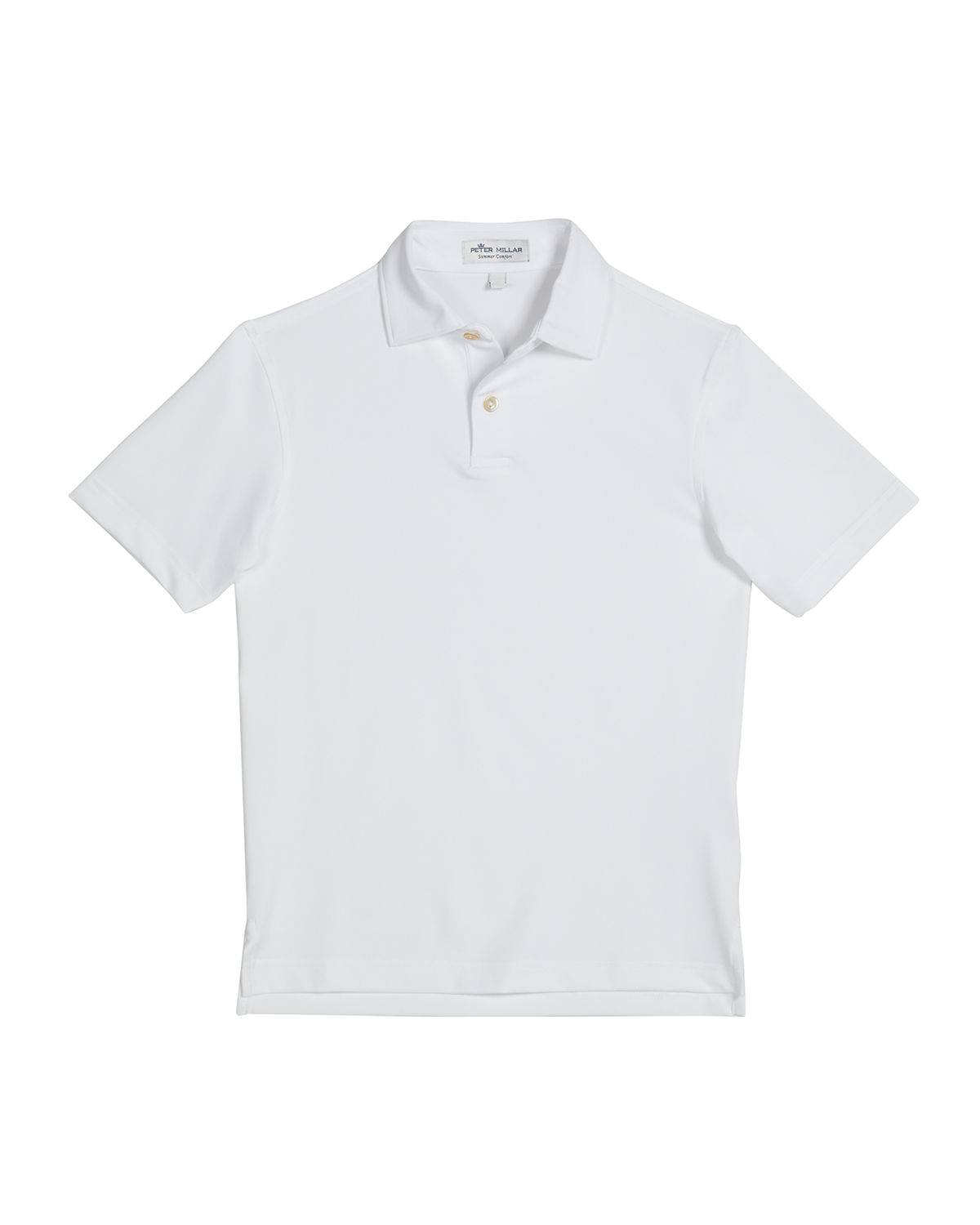 Peter Millar Boy's Solid Short-Sleeve Sport Jersey Polo Shirt, Size XXS-XL - Size: Extra Large