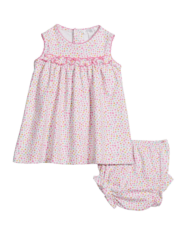 Kissy Kissy Girl's Unicorn Gardens Dress w/ Matching Bloomers, Size 6-24M - Size: 9 Months