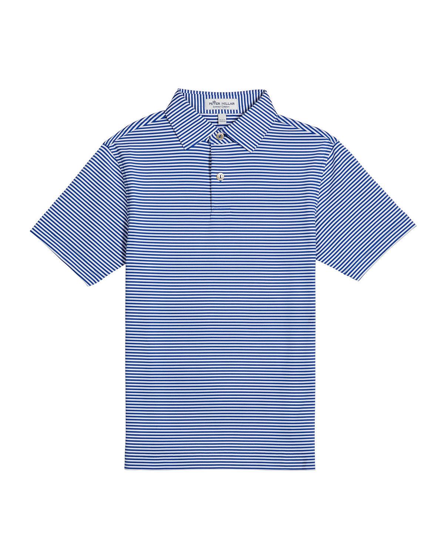 Peter Millar Boy's Crown Sport Hales Stripe Polo Shirt, Size XXS-XL - Size: 2X-Small