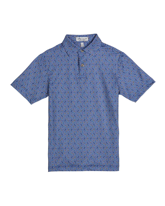 Peter Millar Boy's Crown Sport Sushi Print Jersey Polo Shirt, Size XXS-XL - Size: Extra Large