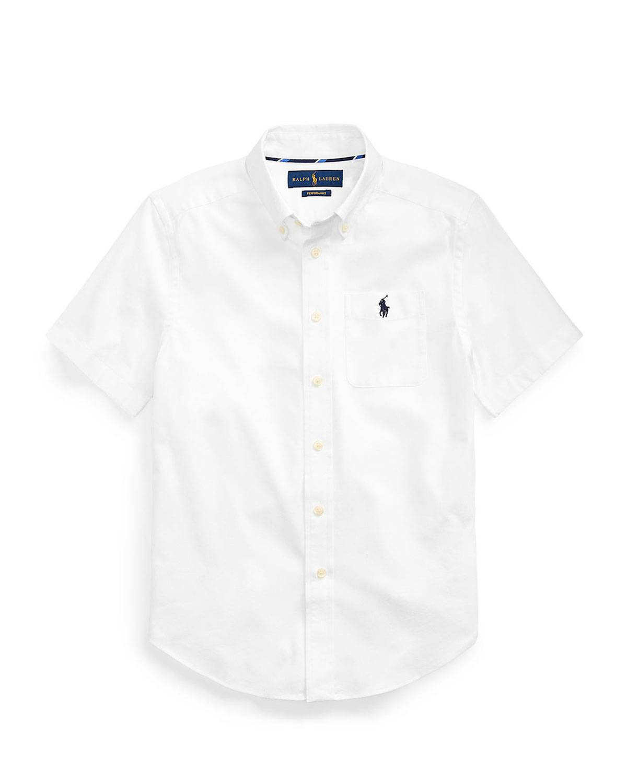 Ralph Lauren Boy's Short-Sleeve Oxford Sport Shirt, Size S-L - Size: Medium