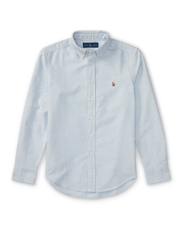 Ralph Lauren Cotton Oxford Stripe Sport Shirt, Size S-XL - Size: Extra Large