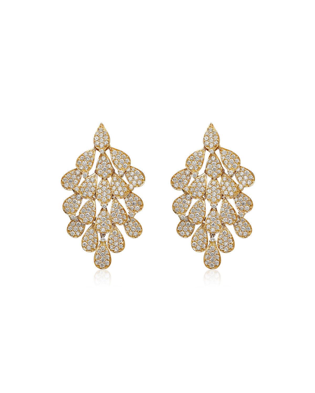 Hueb Secret Garden 18k Diamond Drop Earrings