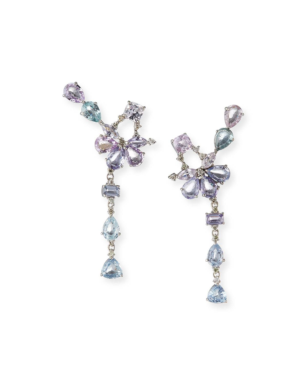 Siena Jewelry Multicolored Sapphire and Diamond Ear Climbers