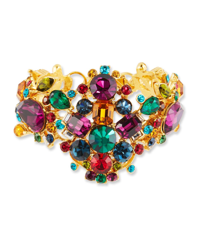 Jose & Maria Barrera Large Multicolor Crystal Bracelet