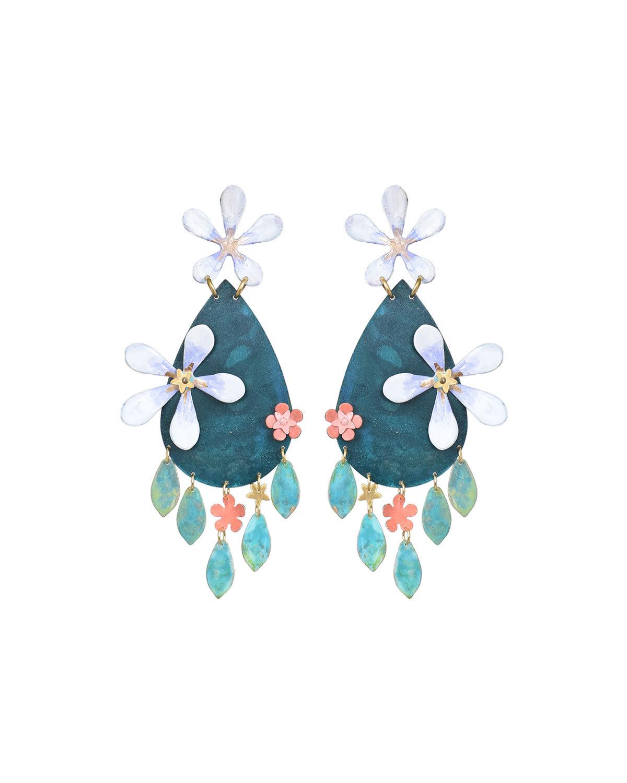 We Dream in Colour Night Garden Blossom Drop Earrings