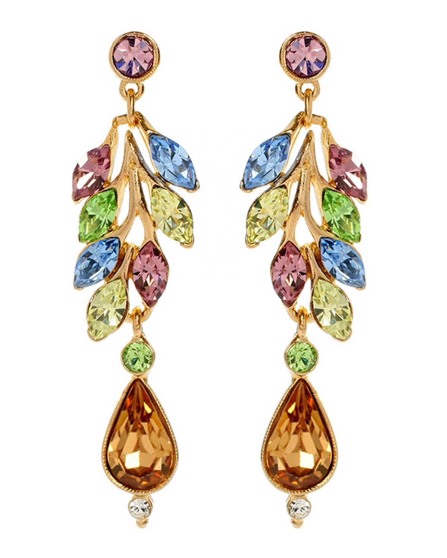 Ben-Amun Crystal Garden Teardrop Earrings