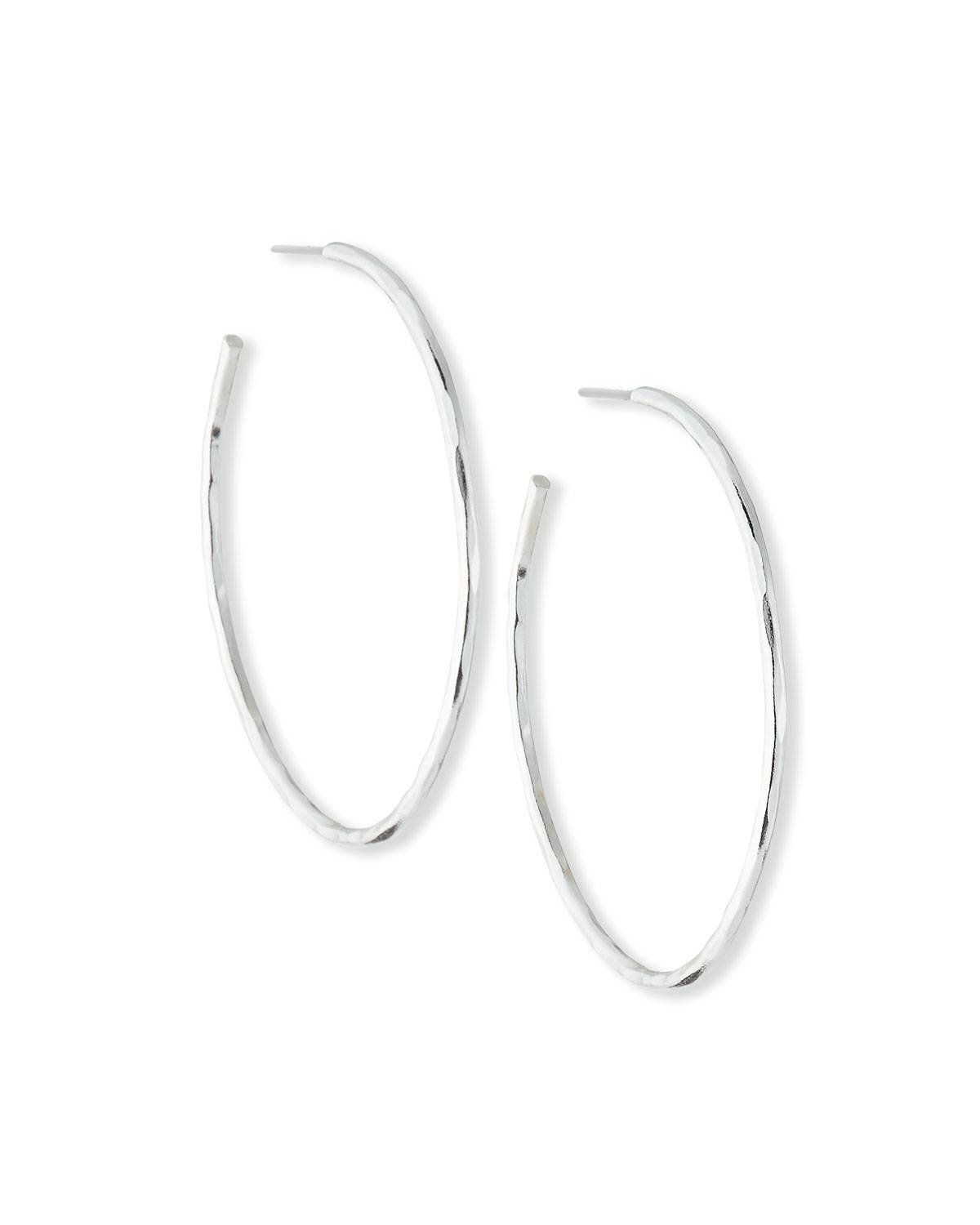 NEST Jewelry Silver Thin Hammered Earrings